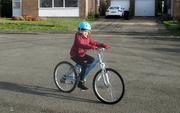 "2nd Jan 2019 - Granddaughter On ""Big"" Bike"