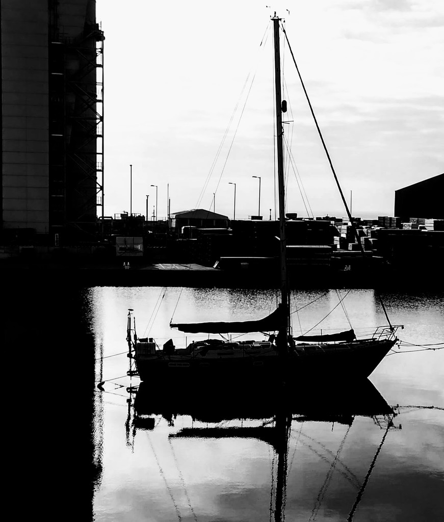 Shoreham Port B&W by 4rky