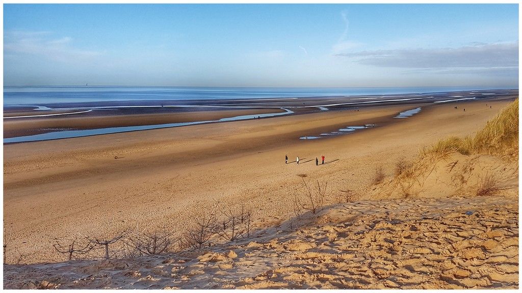 Formby Point with its miles and miles of sand by lyndamcg