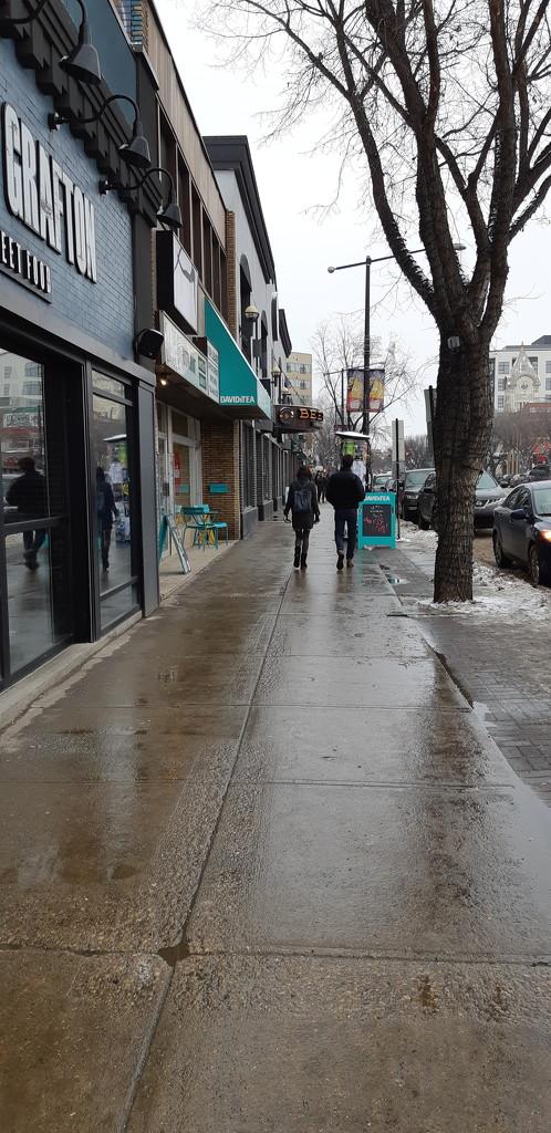 Quiet Sunday Sidewalks by bkbinthecity