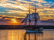 7th Jan 2019 - Tall Ship at Sunset