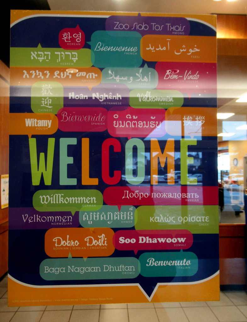 Welcome in different languages by bruni