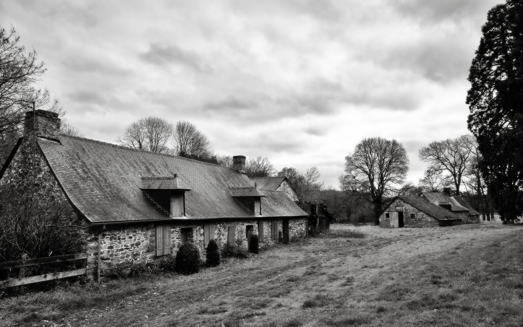 Trees and Cottages 2 by vignouse