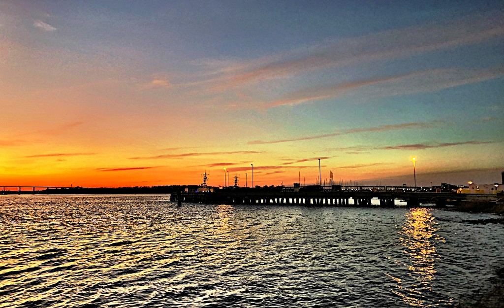 Sunset, Ashley River by congaree