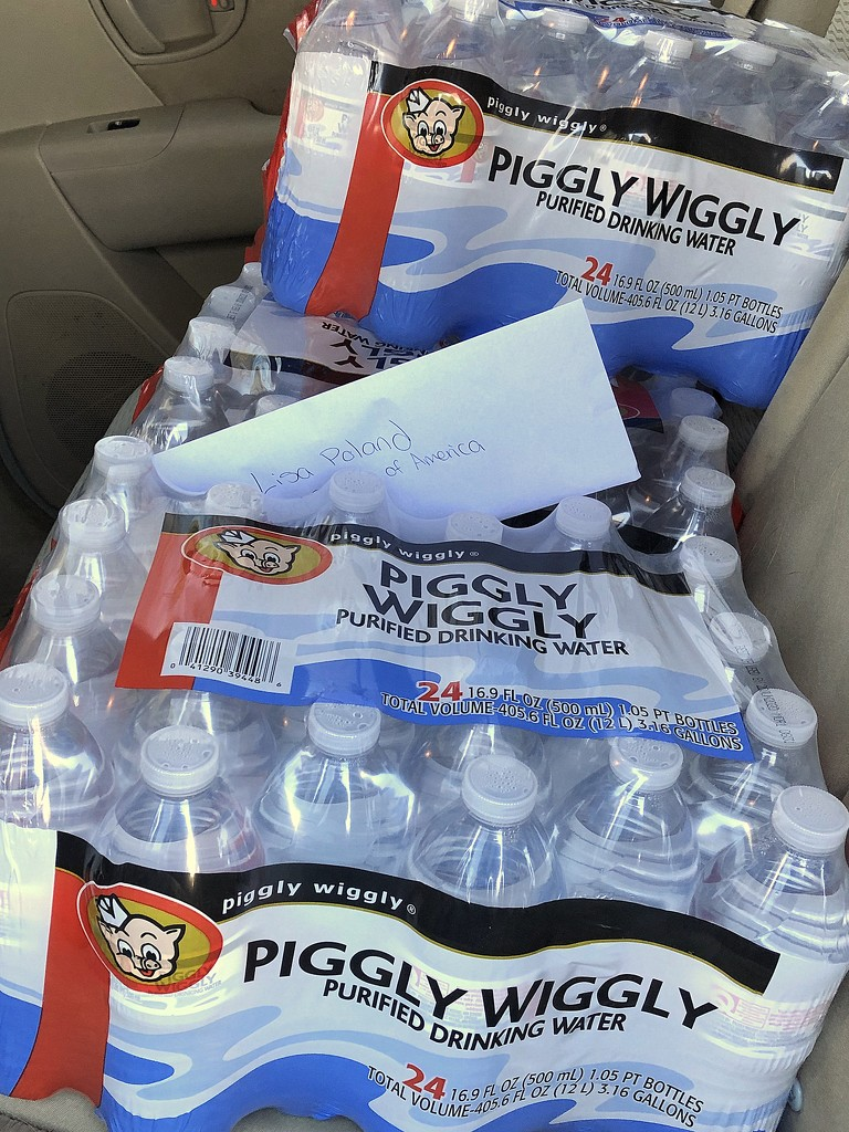 Water and pizza donations by homeschoolmom