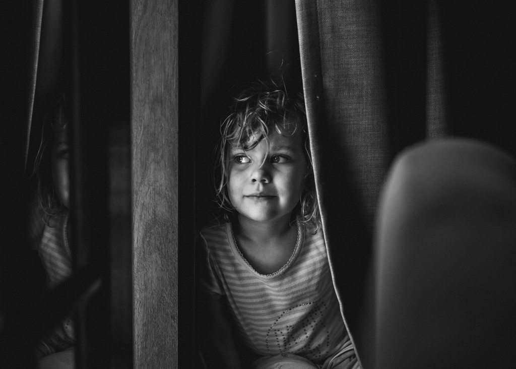 Hiding in the curtains by jodies