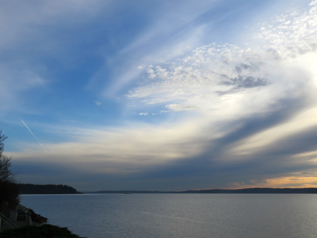 Late Afternoon Sky Over Puget Sound by seattlite