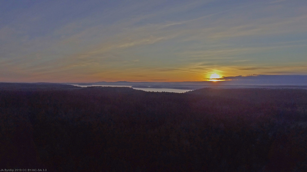 Sunset over Puget Sound by byrdlip