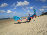 15th Jan 2019 - Preparing the Sand Surfing Kite for take off