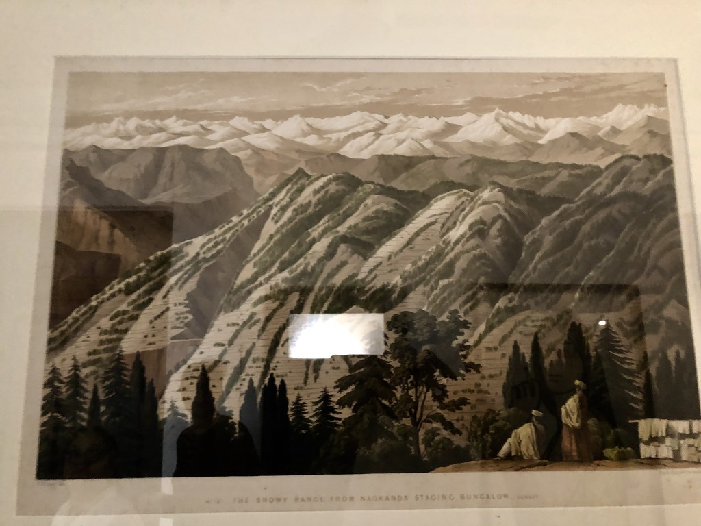 Old print of a Himalayan range by veengupta