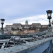 Buda Castle viewed from the Chain Bridge.