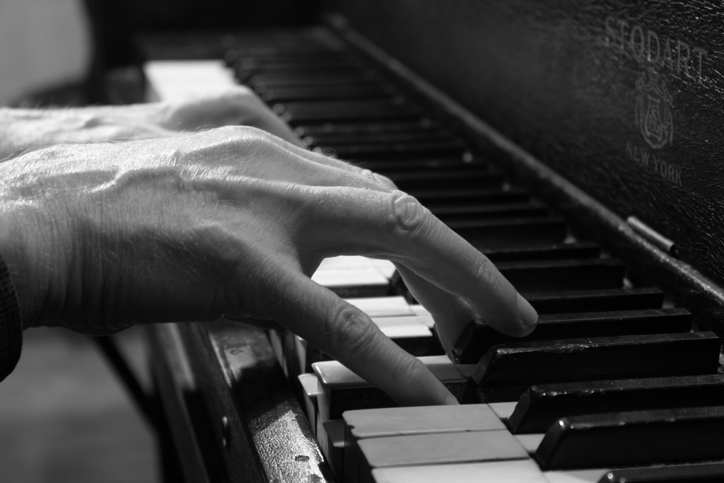 Piano Hands B&W by tdaug80