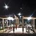 bike shed at night