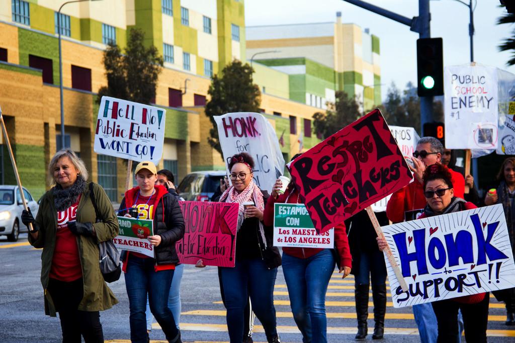 Teachers on Strike by jaybutterfield