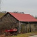 Red roofed barn