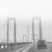 Delaware Memorial Bridge in the fog