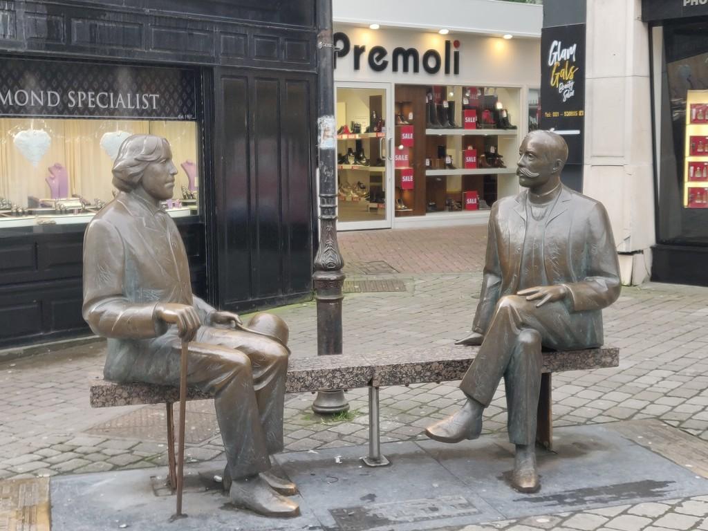 Statues in Galway by jmdspeedy