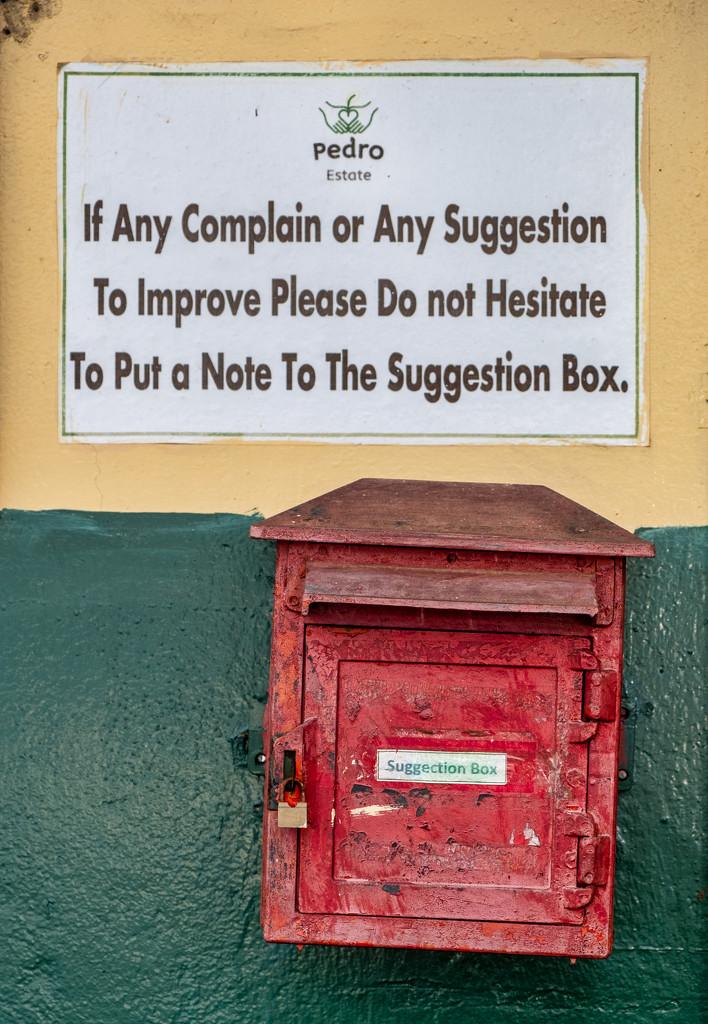 Suggection box by golftragic