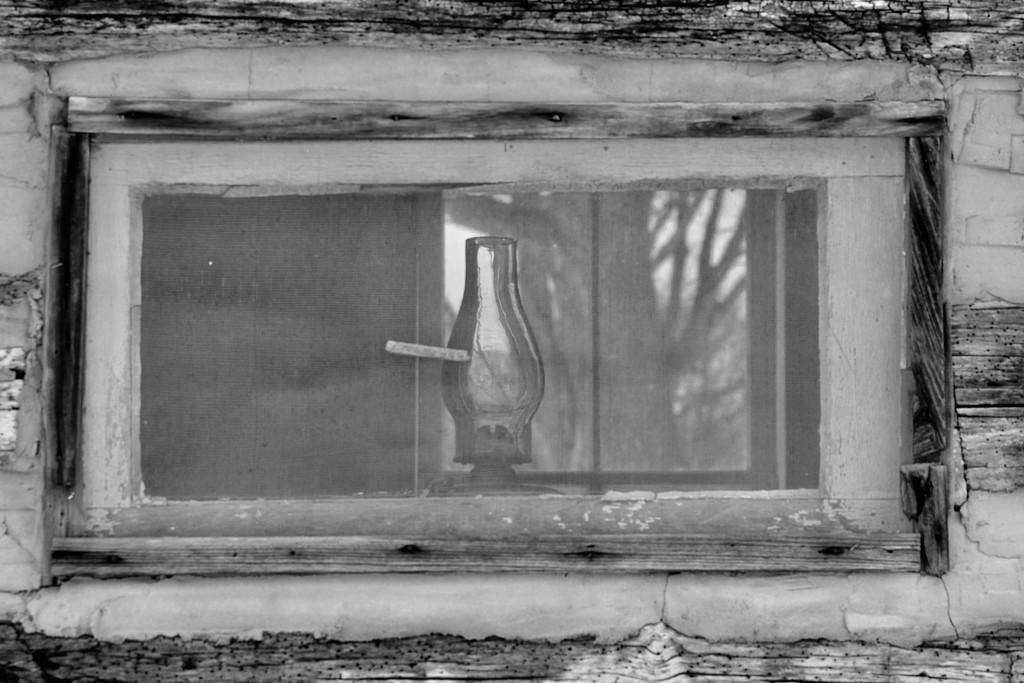 lamp in window by amyk