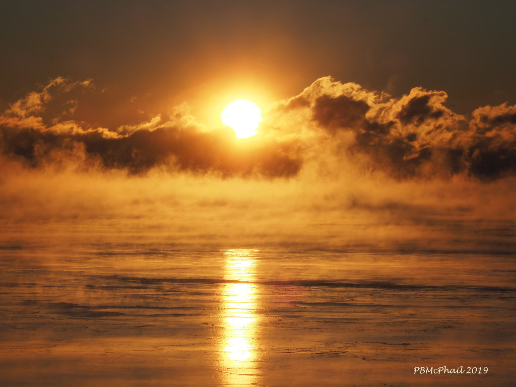 Rising Mist on the Rising Sun by selkie