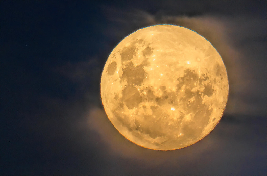 The moon earlier by ludwigsdiana