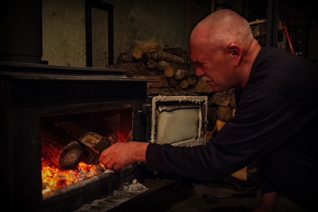 Wood Heat Warmth by farmreporter