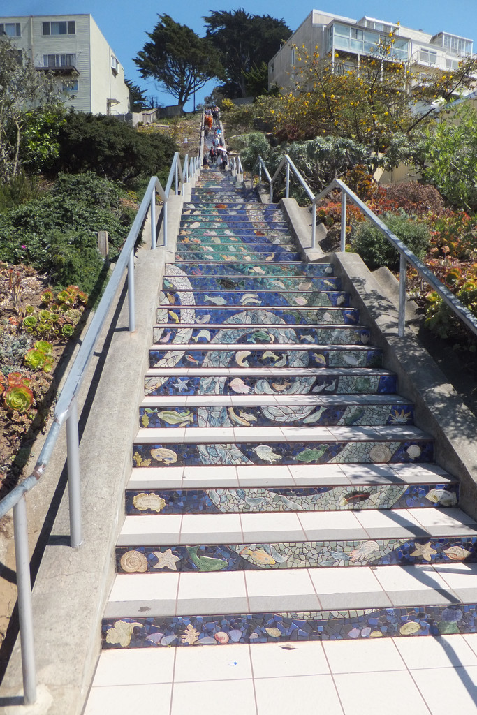 Mosaic Stairs by olivetreeann