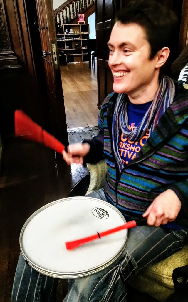 Drumming at the session by boxplayer