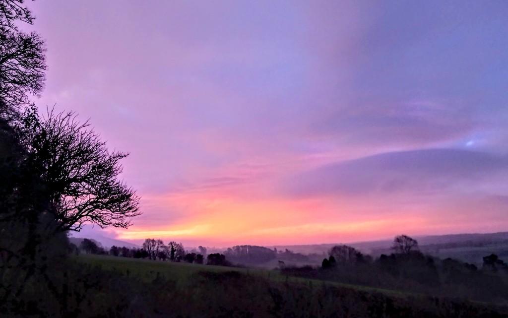 Sunrise in the Quantocks by boxplayer
