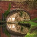 Canal Reflection by padlock
