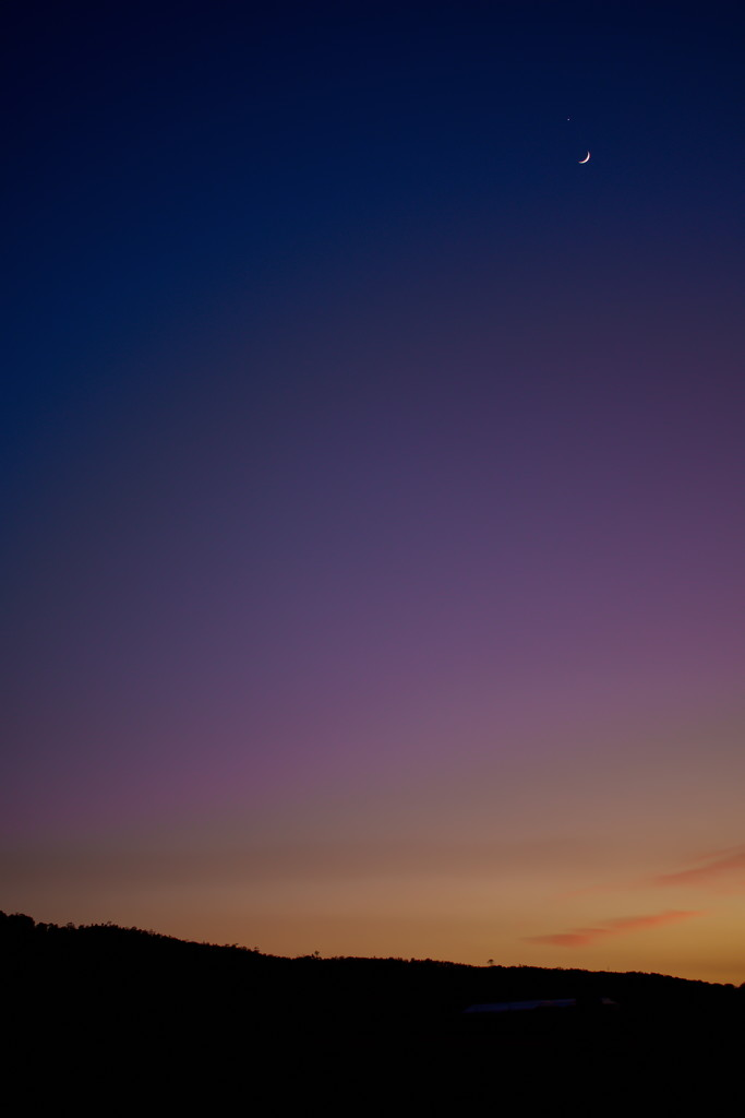 Crescent Moon close to Venus in the morning sky (#1) by kgolab
