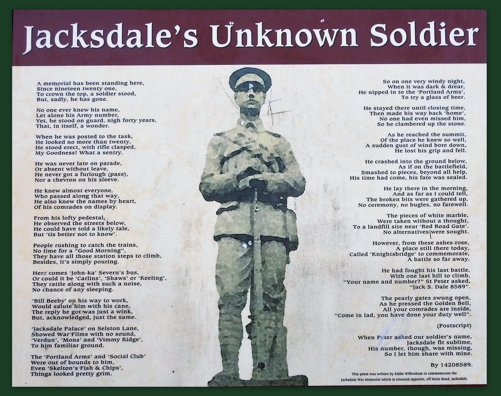 Jacksdales's Unknown Soldier by oldjosh