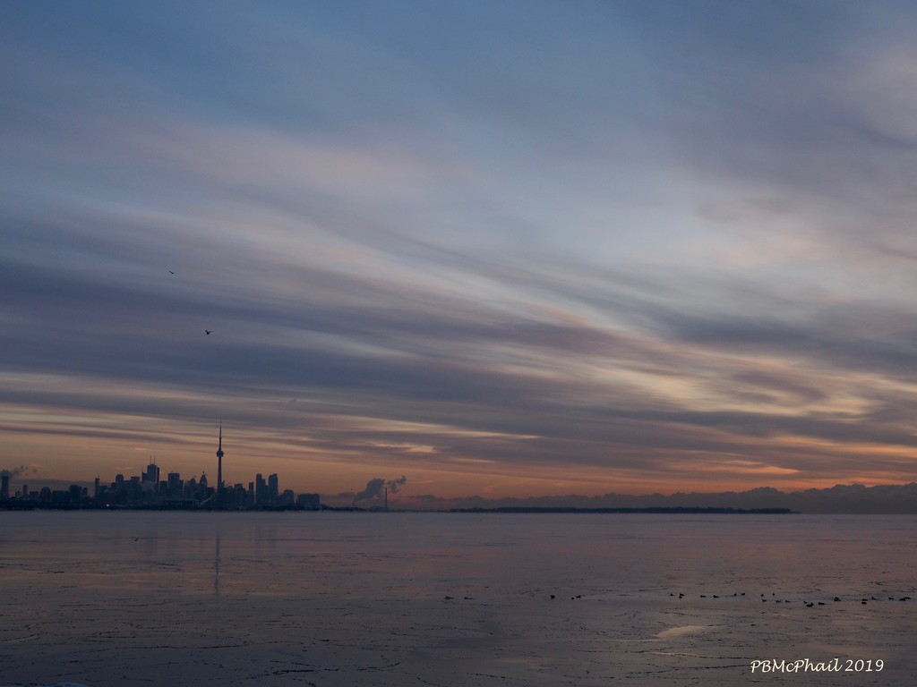 Toronto Skyline and Clouds by selkie