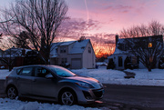 3rd Feb 2019 - Sunset over the Mazda 3