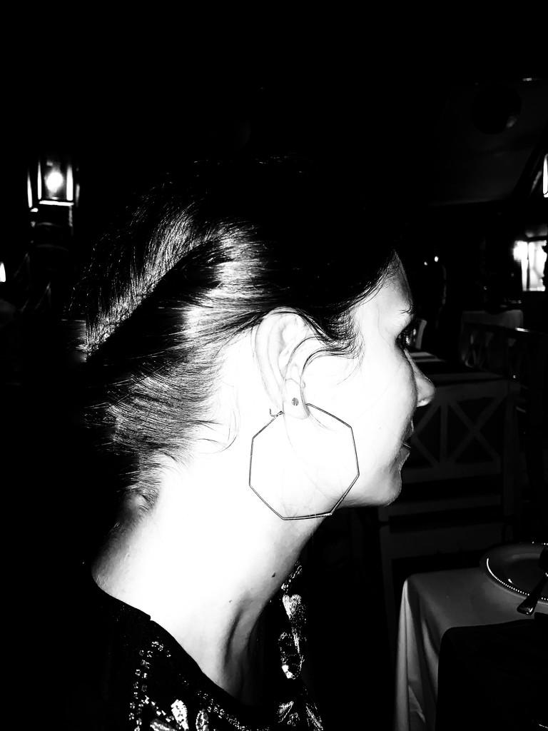 Hexagonal earring.  by cocobella