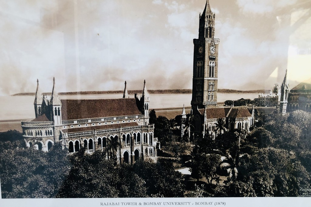 Old print of Bombay University and the clock tower by veengupta
