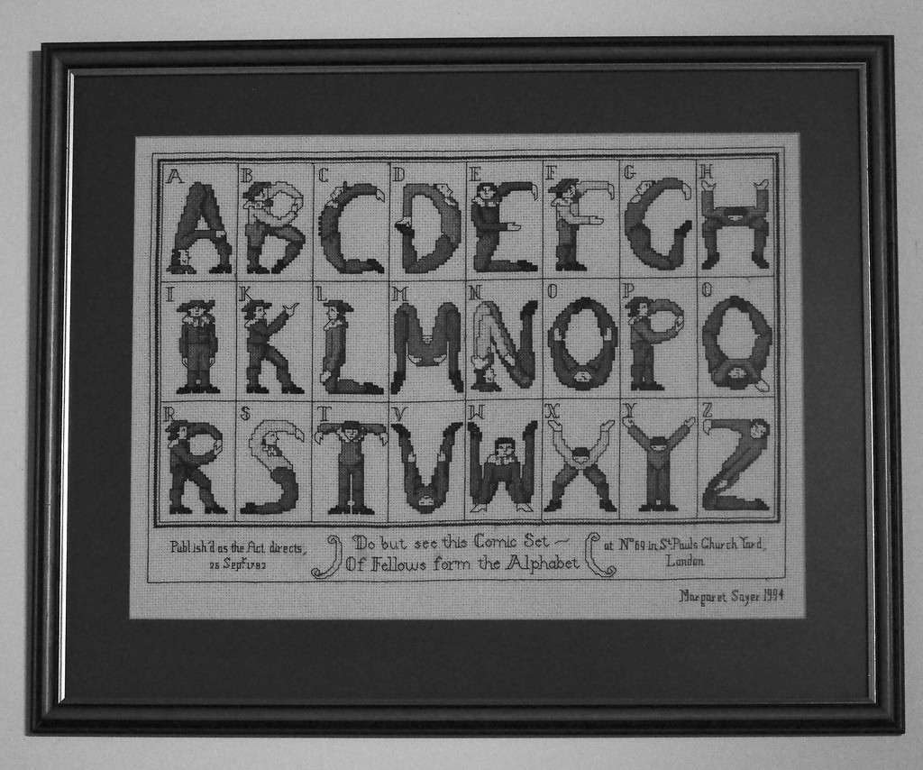 Texture & Pattern: 1 of 7, Sampler Alphabet 1782 by s4sayer