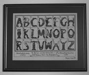 4th Feb 2019 - Texture & Pattern: 1 of 7, Sampler Alphabet 1782