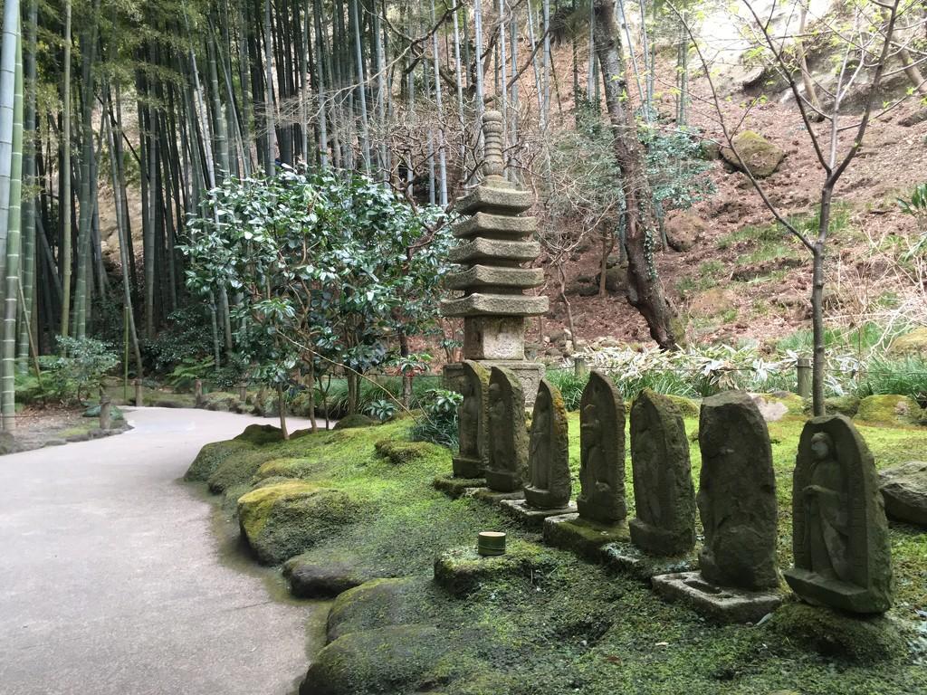 Garden Guardians at Hokoku Temple, Kamakura 2019-02-05  by cityhillsandsea