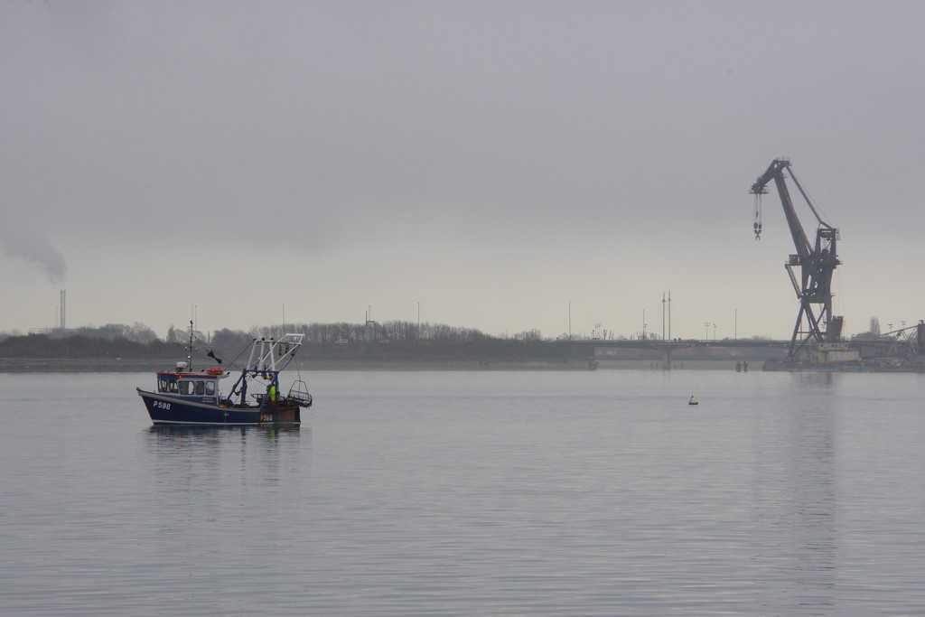 Misty Portchester Harbour  by 30pics4jackiesdiamond