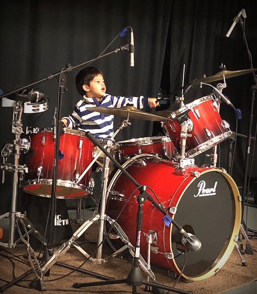 Meet our new drummer by homeschoolmom