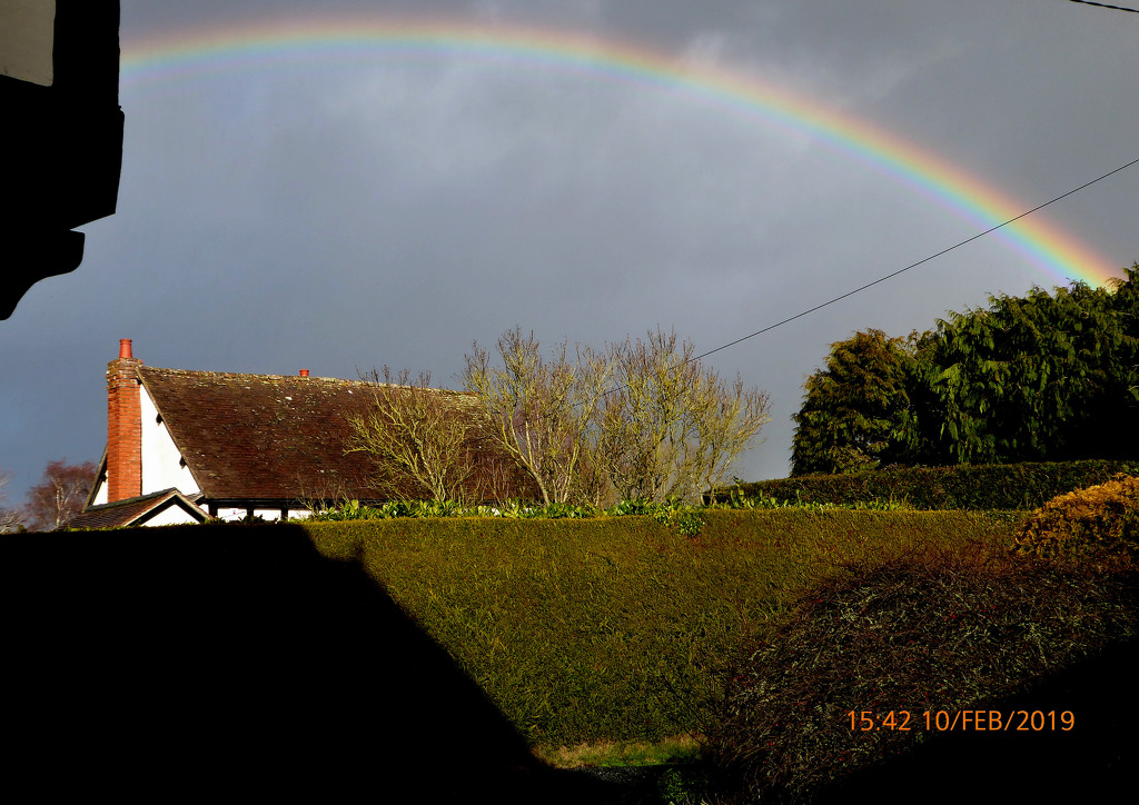 Rainbow over the village.. by snowy