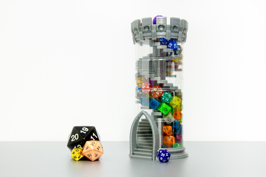 Double-Helix Dice Tower by humphreyhippo