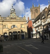 11th Feb 2019 - St Lawrence church and the Buttercross in Ludlow.