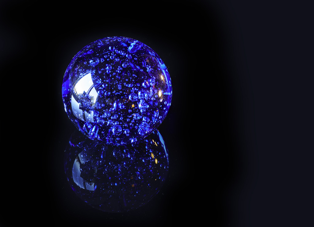 Blue Globe by jgpittenger