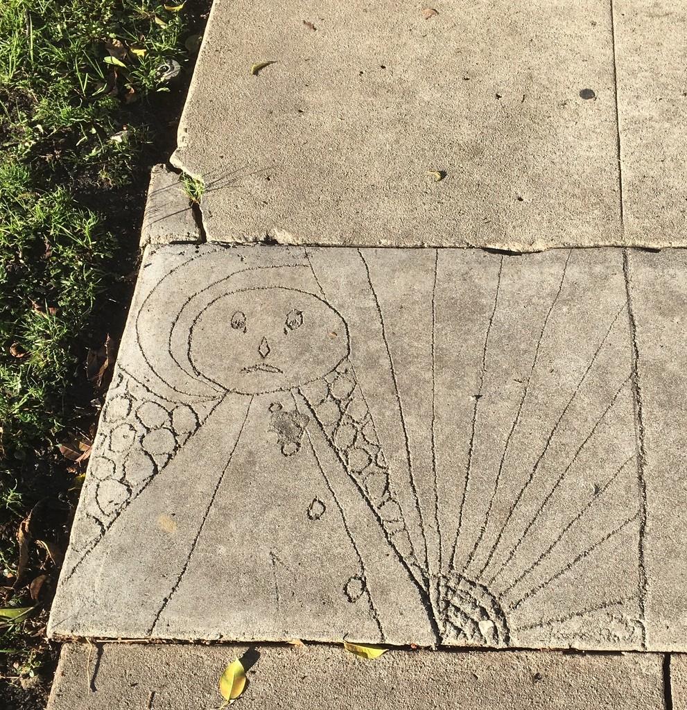 Sidewalk Drawing by handmade
