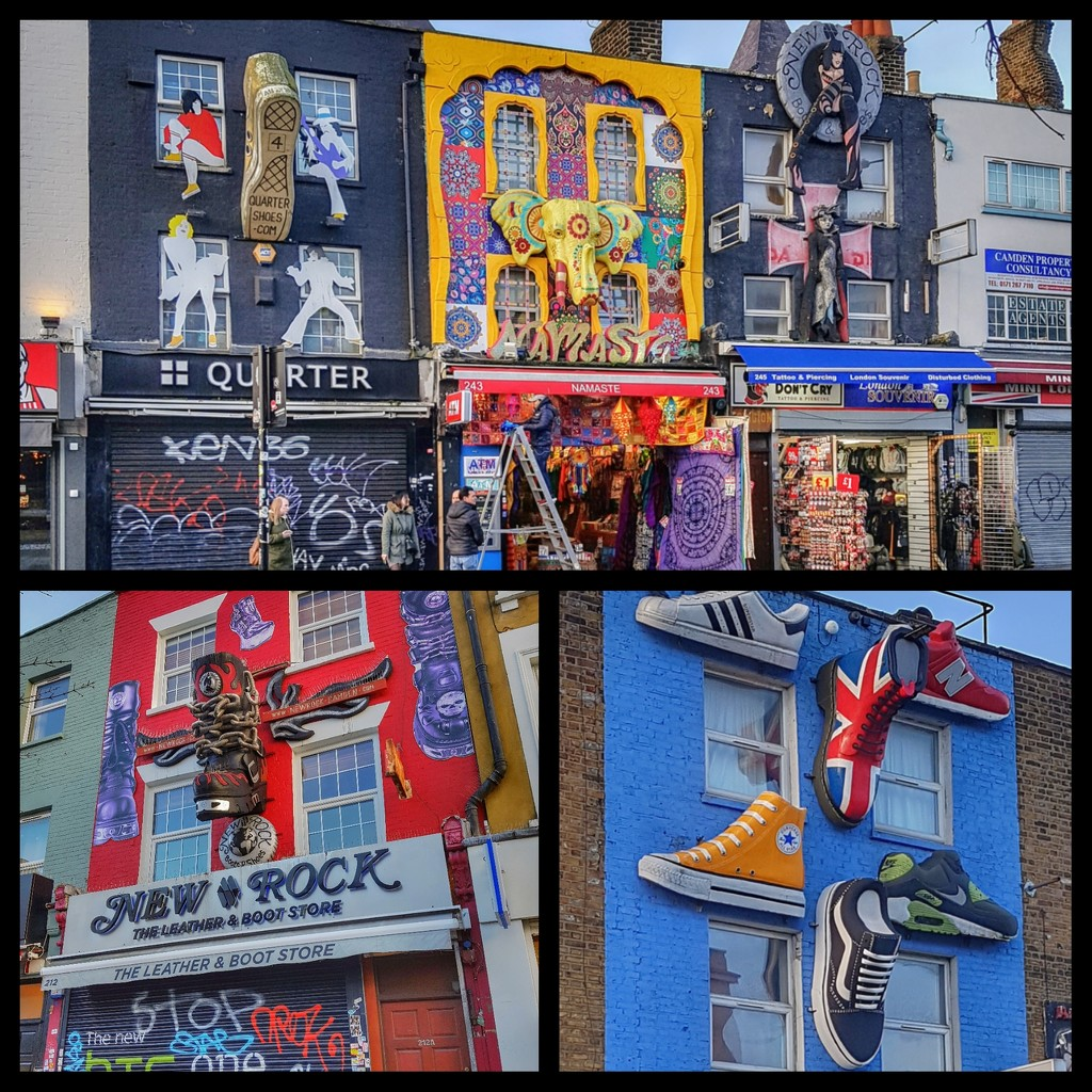 A collage of some of the brilliant shop fronts on way to Camden market by lyndamcg