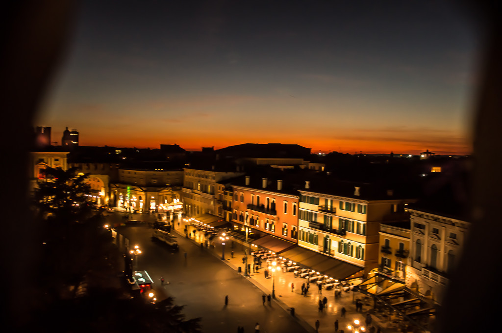 Piazza Bra from above by caterina