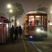 Cable car stop in New Orleans in the Fog