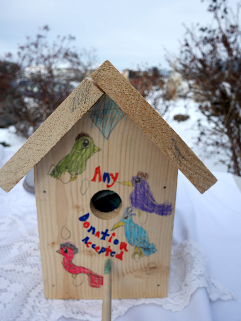 Birdhouse Piggybank by gq